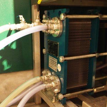 麦汁冷却に欠かせない、熱交換器